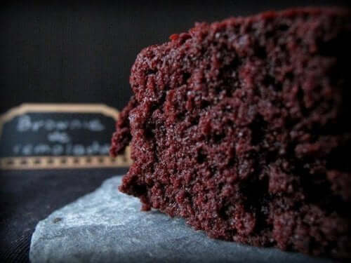 close-up van een brownie