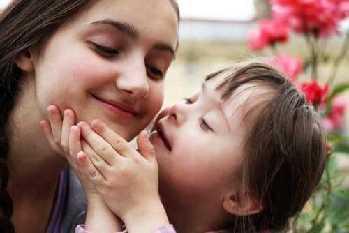 moeder en haar kindje met syndroom van down