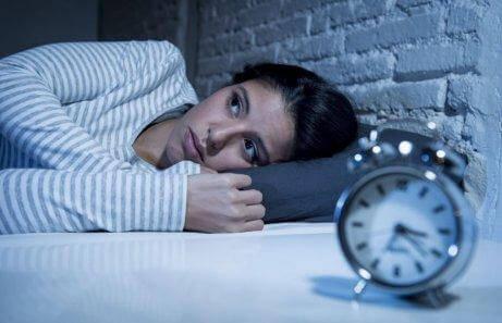 Vrouw met slaapproblemen