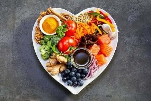 Bord met gezond voedsel