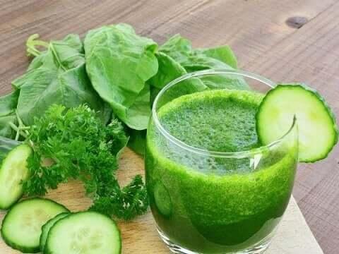 Een gezonde groene smoothie