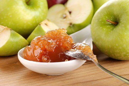 Zelfgemaakte suikervrije appeljam