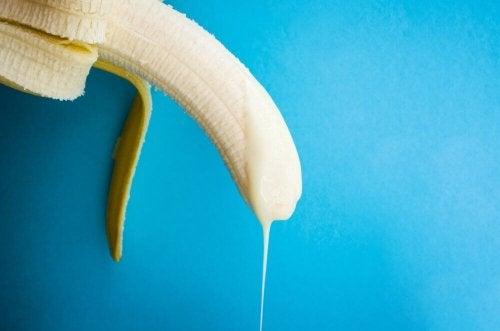Banaan met yoghurt