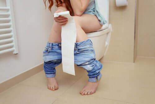 Vrouw met diarree