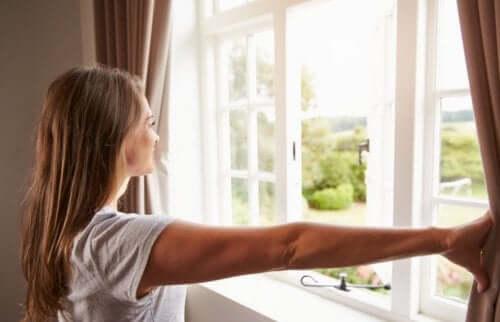 Open je ramen voor frisse lucht