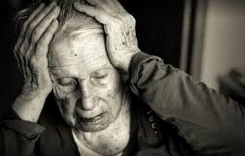 Iemand met Alzheimer