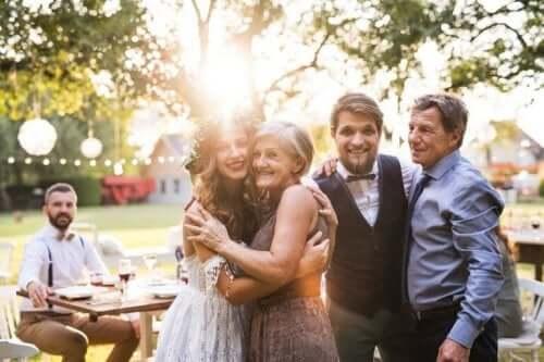 Ouders met hun getrouwde kinderen