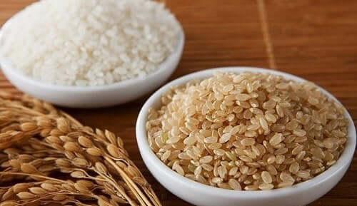 Verschillende soorten rijst
