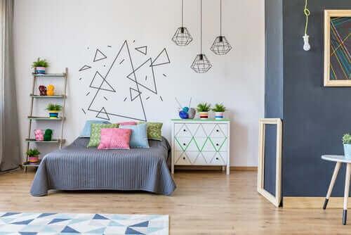 De muren van de slaapkamer van je kind