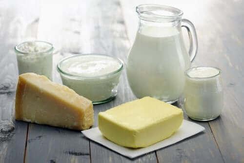 Melk en kaas en boter