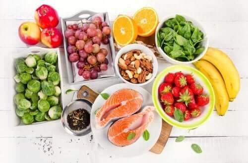 Verschillende soorten gezond voedsel