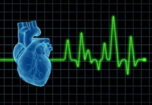 Gestyleerde afbeelding van een elektrocardiogram