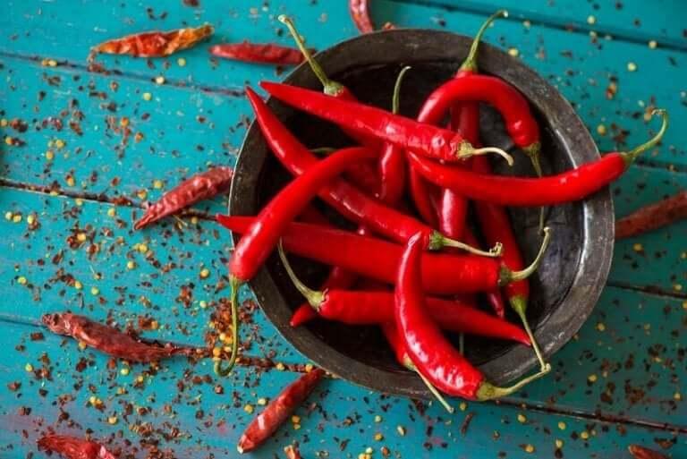 Bakje chilipepers om je eetlust te stillen