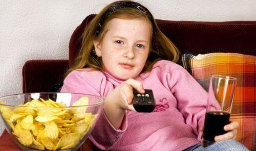 Kinderen met overgewicht door ongezond eten