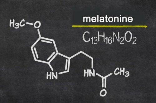 Scheikundig teken van het hormoon melatonine