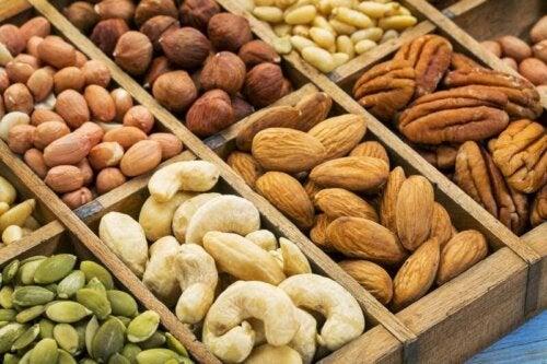 Een assortiment van noten