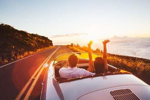 Is gelukkig zijn rijden in een cabrio