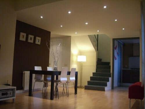 Prettige verlichting in de woonkamer
