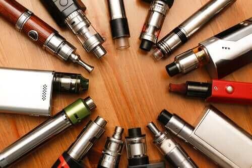 Verschillende soorten e-sigaretten