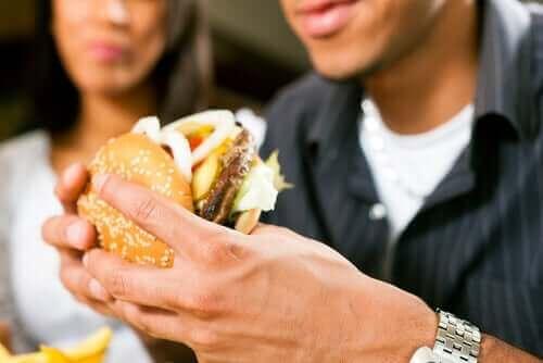 fastfood eten door tijdgebrek