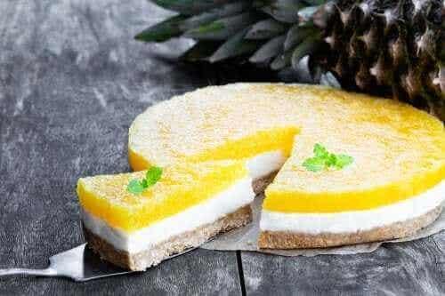 Een recept voor no-bake piña colada cheesecake