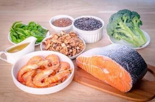 Vis en zeevruchten, broccoli en noten zijn rijk aan omega 3- en 9-vetzuren