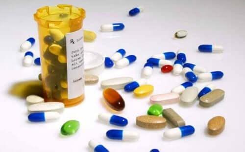 Verschillende soorten pillen