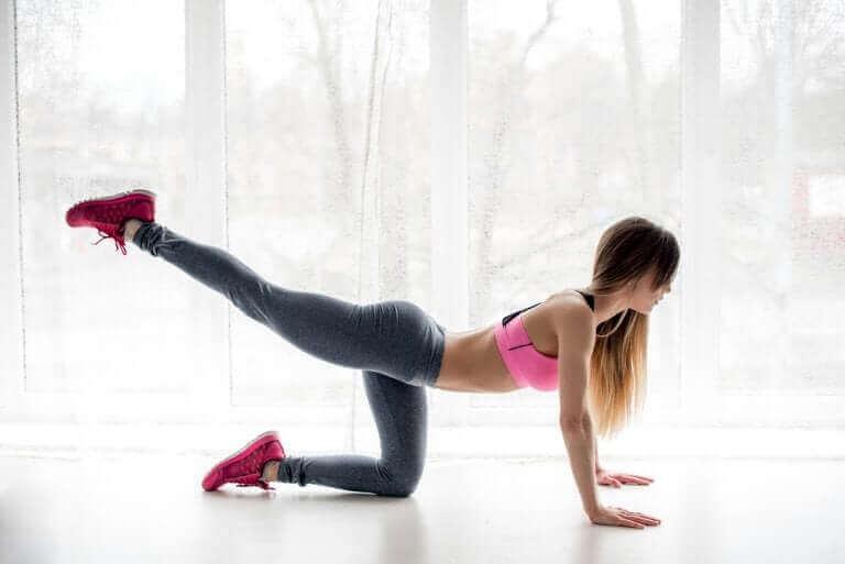 Oefening om fit te blijven