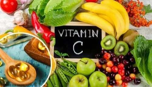 Vitamine C zit in veel groente en fruit