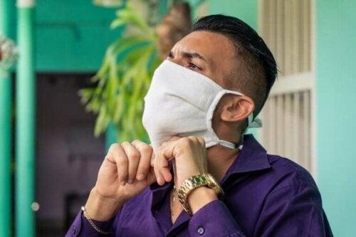 Fouten bij het gebruik van stoffen maskers