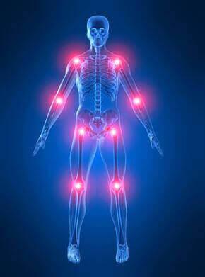 Acht gewrichten in het lichaam