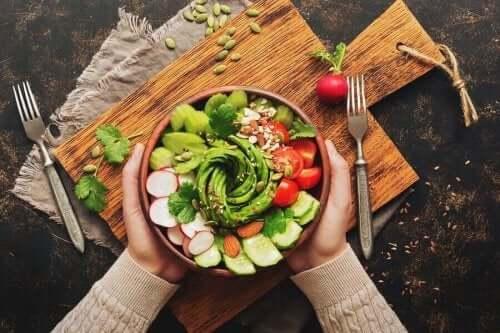 Gezonde salade zonder saus