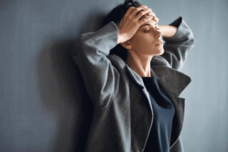 Vrouw met veel zorgen