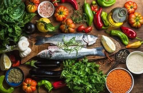 Vijf diëten vergelijkbaar met het mediterrane dieet