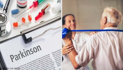 Een persoon in behandeling voor Parkinson