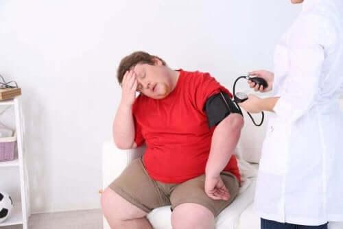 Man met obesitas