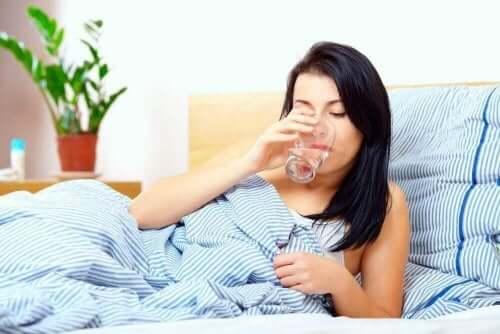 Veel water drinken helpt