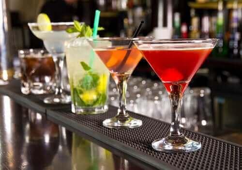 Verschillende cocktails