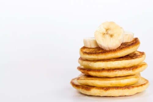 Bananenpannenkoeken als ontbijt