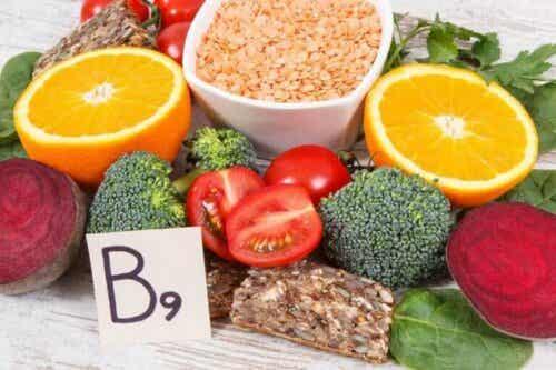 Dagelijkse voedingsmiddelen rijk aan foliumzuur