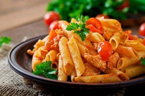 Gerecht met pasta