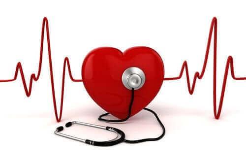 Hart met een stethoscoop