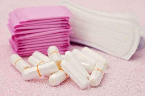 Producten voor tijdens de menstruatie