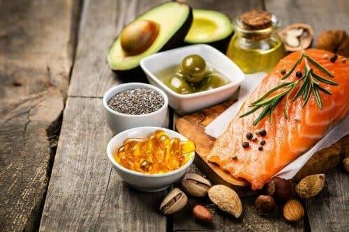 Vis en noten en olijfolie