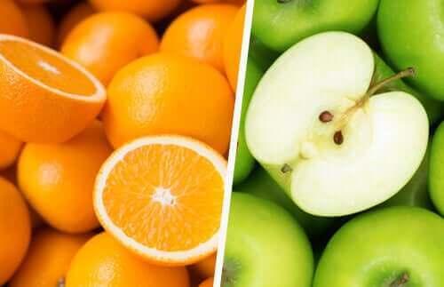 Sinaasappels en appels