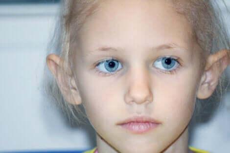 Een kind met retinoblastoom
