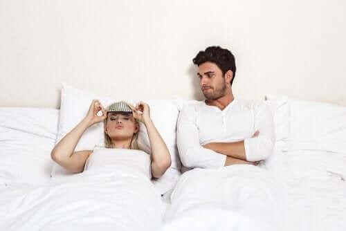 Man wil seks en vrouw wil slapen
