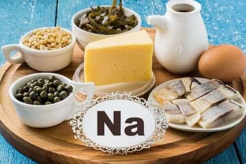 Voedingsmiddelen rijk aan natrium