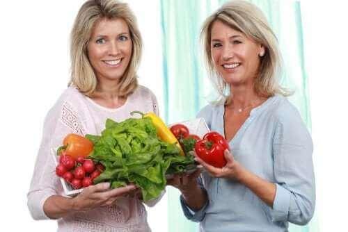 Vrouwen met groenten