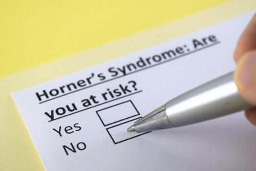Wat is het syndroom van Horner?